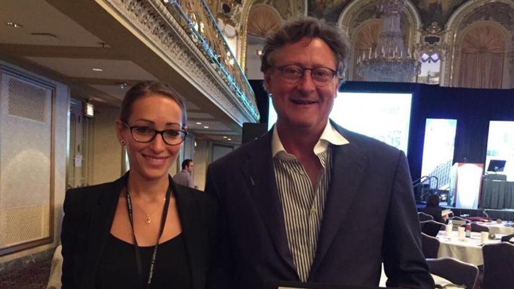 Chiara Insalaco con il dottor John P. Cole